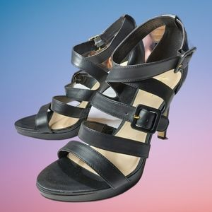 Nine West Strappy Leather Heels Size 9